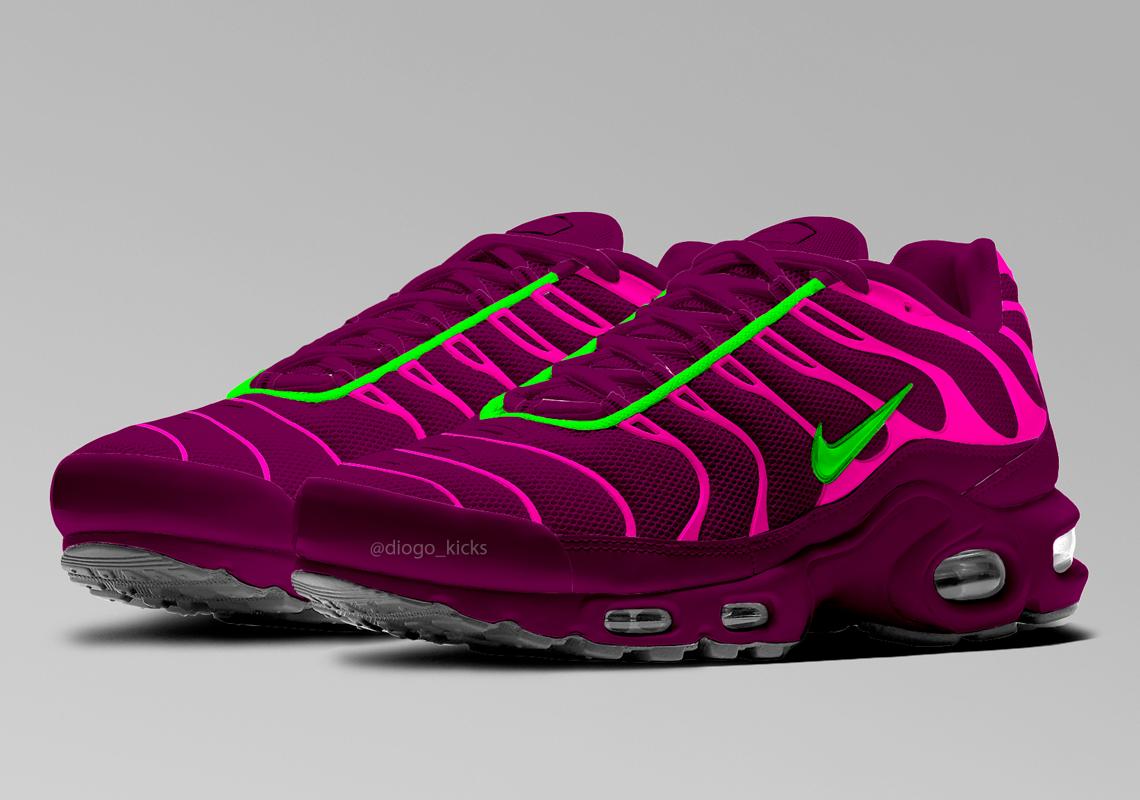 The All-New Nike Air Max TN Plus 'Volt Grape' - Sneakerz