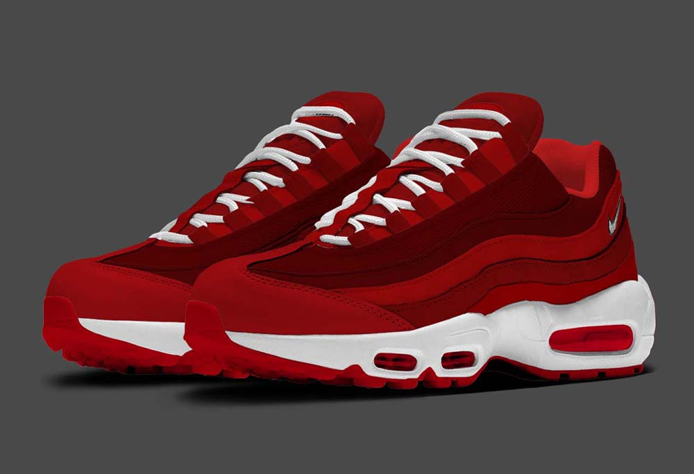 Keeping it simple! - Air Max 95 Red and White - Sneakerz